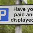 Stock Photo: Have you paid and displayed?