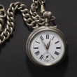 Antique pocket watch with chain — Stock Photo