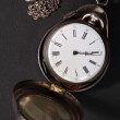 Antique pocket watch in case — Stock Photo