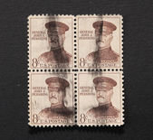General J Pershing on stamps — Stock Photo