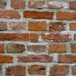 Background of old red brick wall — Stock Photo