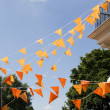 Orange flags — Stock Photo