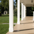 Empty porch with pillars — Stock Photo