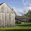 Vintage wooden barns — Stock Photo