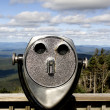 Binoculars in landscape — Stock Photo