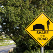 share the road — Stock Photo