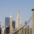 Workers on Brooklyn Bridge in Manhattan — Stock Photo #8694917
