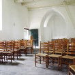 Interior of a beautiful old medieval church — Stock Photo