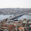 View on Istanbul and Galata bridge - Foto de Stock  