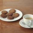 Homemade cookies and coffe — Stock Photo