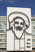 Steel image of Castro on building in Havana — Stock Photo