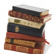 Antiquarian leather books — Stock Photo