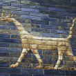 Ancient tiled dragon from the Babylonic Ishtar Gate — Stock Photo