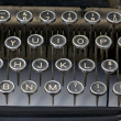 Stock Photo: Old fashioned typewriter keys