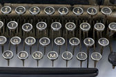 Old fashioned typewriter keys — Stock Photo