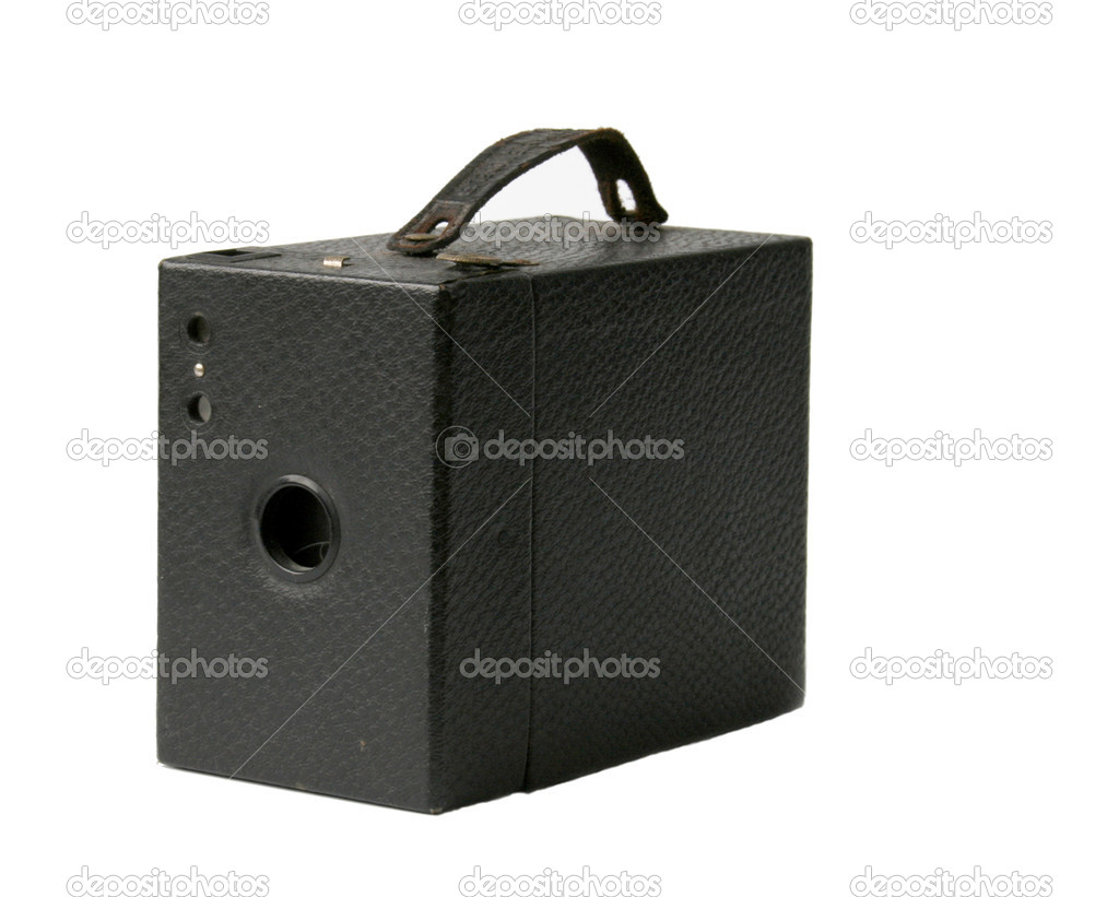 Old leather camerabox from the 1920's isolated — Stock Photo #9064669