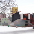 Groninger museum in the snow — Stock Photo