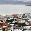 Reykjavik on the water — Stock Photo