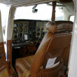 Inside a small plane — Foto de Stock