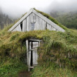 Traditional icelandic wooden house — Stock Photo