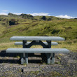 Wooden bench in beautiful landscape — Stock Photo #9143696