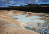 Sulfur pool at Leirhnjukur, Krafla Iceland — Stock Photo
