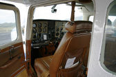 Inside a small plane — Stock Photo