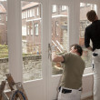 Painters working - Stock Photo
