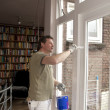 House painter at work - Stock Photo