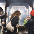Inhaling incense smoke in Tokyo — Stock Photo #9280400