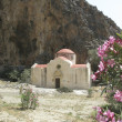 Old Byzantine church in gorge in southern crete — Stock Photo