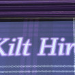 Kilt hire — Stock Photo
