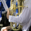 Musiciwith polished tuba — Stock Photo #9886715