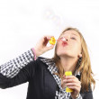 Bubbles blowing - Stock Photo