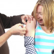 Getting a vaccination — Stock Photo