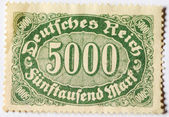 Postage stamp of 5000 mark — Stock Photo