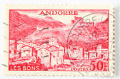 Postaghe stamp of andorra — Foto Stock