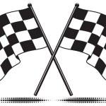 Vector checkered flags — Stock Vector