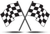 Vector bandeiras quadriculadas — Vetorial Stock