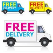Free Delivery Icons — Stock Vector