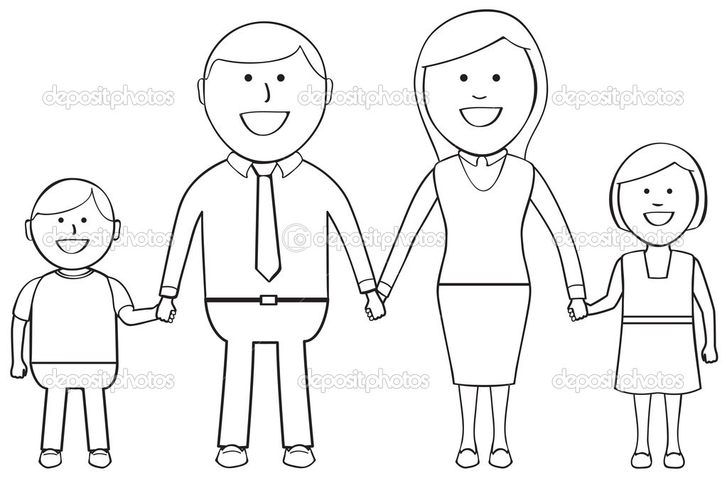 coloring pages family members - photo#4