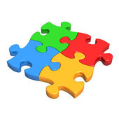 Colourful Puzzle Pieces — Stock Photo