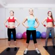 Girls on fitness training — Stock Photo
