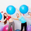 Girls on fitness training — Stock Photo #10062322
