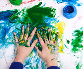 Fingerpainting — Stock Photo