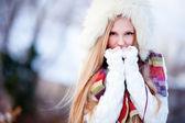 Chica de invierno — Foto de Stock