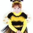 Girl in bee dress — Stock Photo