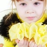 Girl in bee dress — Stock Photo #8835224