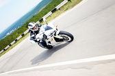 Motocycle rider — Stock Photo