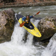 Kayak river racing - Stock Photo